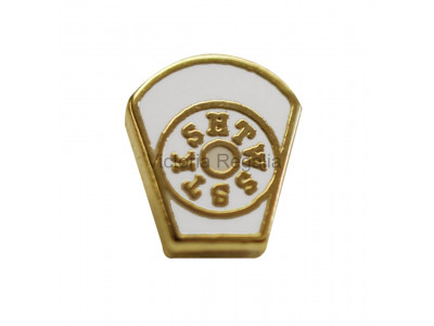 Freemasons White Mark Lapel Pin