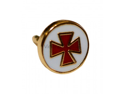 Round Knights Templar KT Masonic Freemasons Lapel Pin
