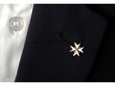 Knights of Malta - White - Masonic Freemasons Lapel Pin