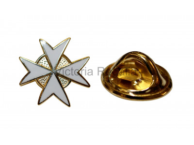 Knights of Malta - White - Masonic Freemasons Lapel Pin