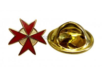 Knights of Malta - Red - Masonic Freemasons Lapel Pin