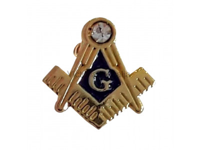 Square, Compass and G Small Masonic Freemasons Lapel Pin