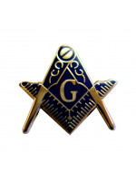 Square and Compass Large Masonic Freemasons  Lapel Pin
