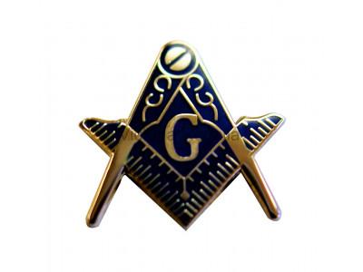 Square and Compass Large Masonic Freemasons  Lapel Pin