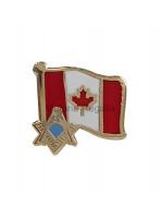 Freemasons Canada Flag with Masonic S&C Lapel Pin