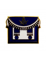 Masonic Freemasons Apron Blue Lapel Pin