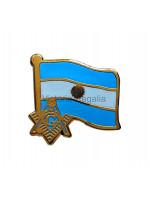 Freemasons Argentina Masonic Flag Lapel Pin