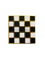 Freemasons Masonic Chequered Carpet Lapel Pin