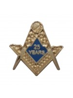 25 Years Freemason Masonic Lapel Pin