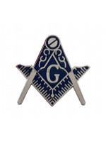 Square and Compass & G  Silver Masonic Freemasons Lapel Pin
