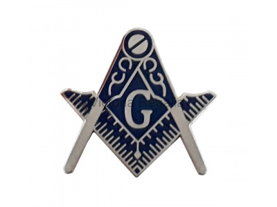 Freemasons Square and Compasses with G Lapel Pin