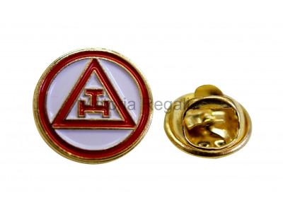 Masonic Royal Arch Triple Tau Style Freemasons Lapel Pin