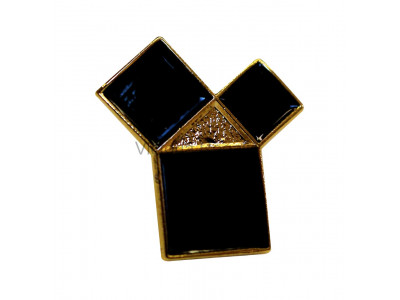 Freemasons Pythagoras Masonic Lapel Pin