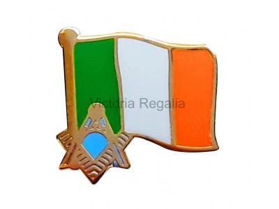 Freemasons Irish Masonic Flag Lapel Pin