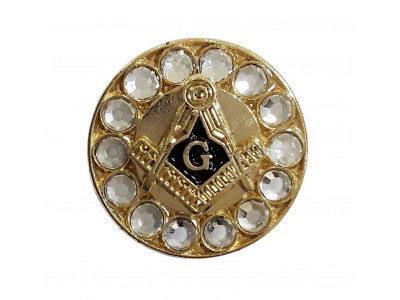 Freemasons Gold Coloured Square & Compass & G Masonic Lapel Pin