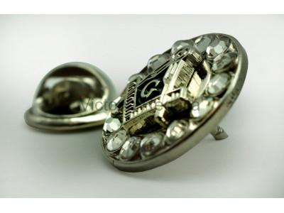 Freemasons Silver Coloured Square & Compass & G Masonic Lapel Pin