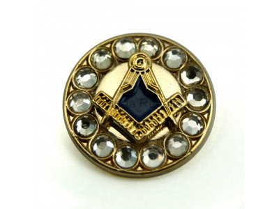 Freemasons Gold Coloured Square & Compass Masonic Lapel Pin