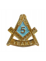 Freemasons Masonic 5 YEAR Lapel Pin
