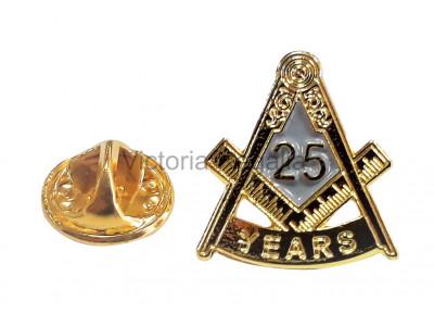 Freemasons Masonic 25 YEAR Lapel Pin