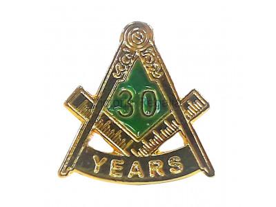 Freemasons Masonic 30 YEAR Lapel Pin
