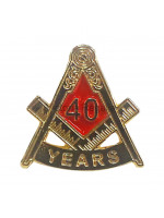 Freemasons Masonic 40 YEAR Lapel Pin