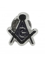 Square and Compass & G small Masonic Freemasons Lapel Pin - Silver