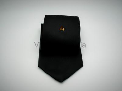 RAC Single Triple Tau-Black Woven Tie