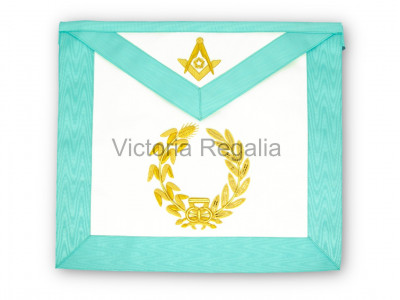Worshipful Masters Apron - Super with Crest Embroidered - English Constitution