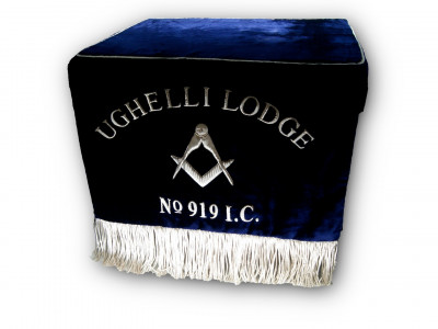 Masonic Velvet Bible Cushion for Altar with Drape Fall