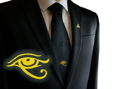 Black Tie with Golden Eye of Horus