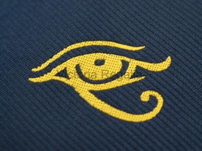 Navy Tie with Golden Eye of Horus