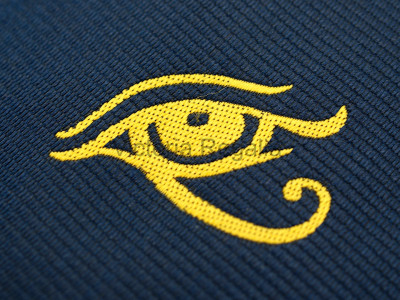 Navy Tie with Golden Eye of Horus