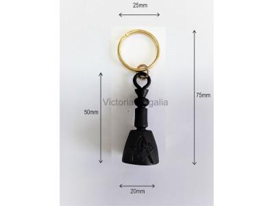 Masonic Maul Keyring Black