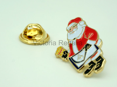 Masonic Saint Nicolas Christmas Edition Lapel Pin