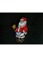 Masonic Santa Claus Christmas Edition Lapel Pin