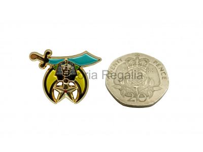 Shriner Freemasons Masonic Lapel Pin Scimitar Star and Crescent
