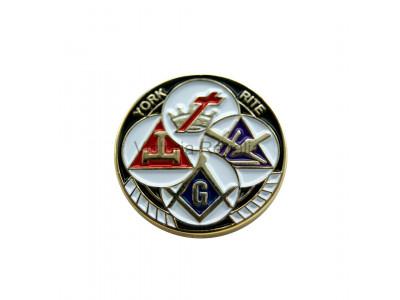 Cryptic Mason Royal Select York Rite  Masonic White Gloves Freemasons  XL