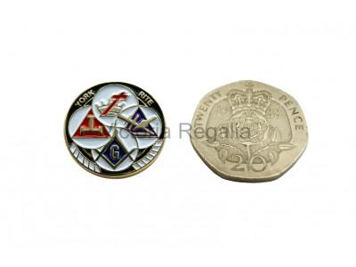 York Rite Freemasons Masonic Lapel Pin