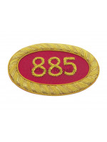 Irish Royal Arch Chapter number Badge for Apron (Large) - Irish Constitution