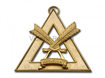 Royal Arch Officers Collar Jewel Assistant Scribe - English Constitution