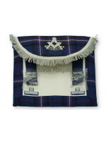 Past Masters Dress Apron Style No.1 in International Masonic Tartan  - SCOTTISH MASON