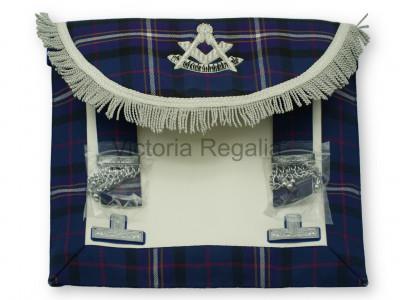Past Masters Dress Apron Style No.1 in International Masonic Tartan  - SCOTTISH MASON