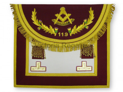 Past Masters Dress Apron Style No.5 - SCOTTISH MASON