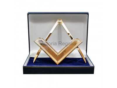 Square and Compass Lodge size - boxed set - Gilt - Gold colour