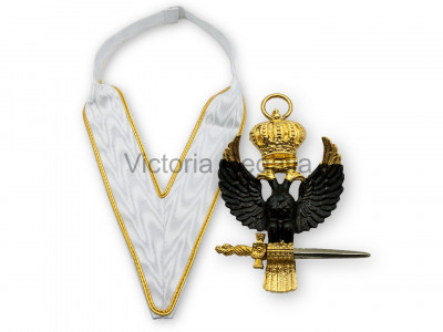 31st Degree Collarette and Jewel Set - English Constitution