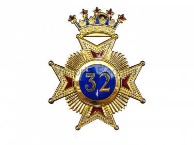 32nd Degree Star jewel - English Constitution