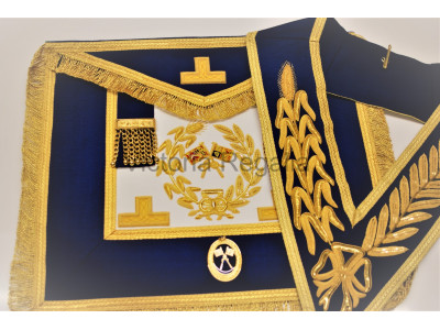 Grand Lodge Full Dress Apron, Collar and Collar Jewel - English Constitution