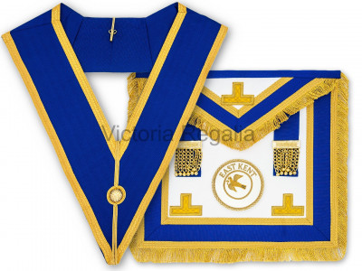 Prov. & Dist. Full Dress Set - Apron, Collar and Badge - English Constitution
