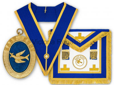 Prov. & Dist. Full Set - Apron, Collar, Badge and Jewel - Lambskin - English Constitution