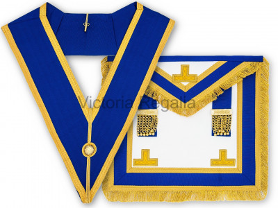 Prov. & Dist. Full Dress Set - Apron and Collar - English Constitution